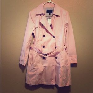 NWT Pink Banana Republic trench coat